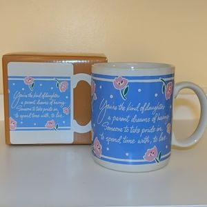 NIB Vintage Hallmark Daughter Mug